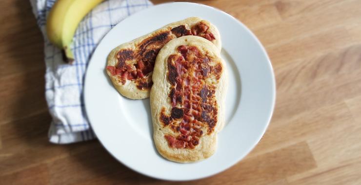 Bacon Pancakes mit Banane