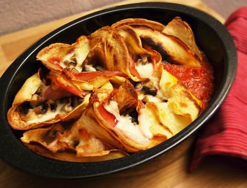 Crespelle mit Champignons und Schinken | Herzhafte Pfannkuchen