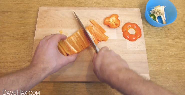 Paprika schneiden - einfach & schnell