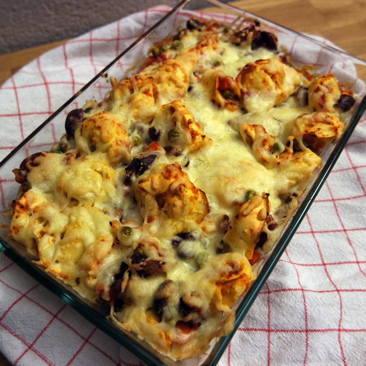 Pikant: Tortelloni-Auflauf mit Chorizo