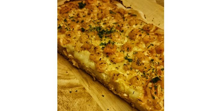Rezept Focaccia mit Garnelen Fladenbrot