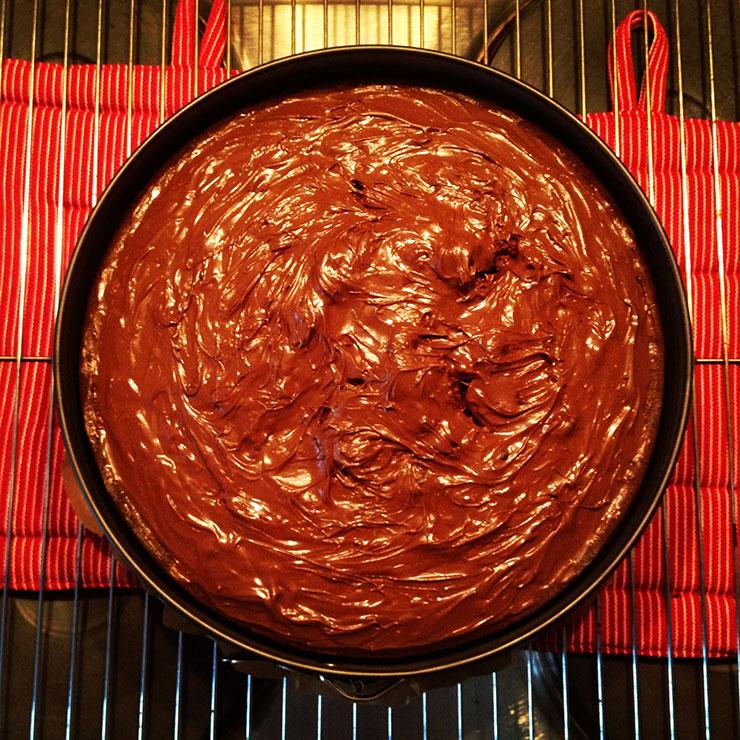 Schokoladiger und saftiger Nutella-Kuchen